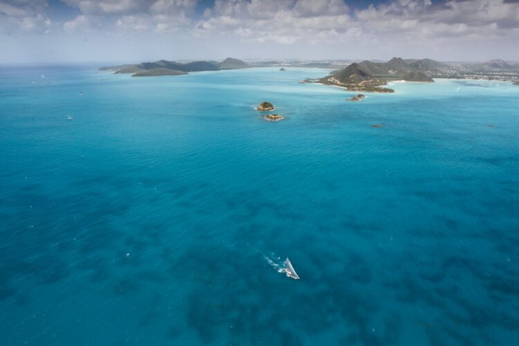 antigua sea aerial